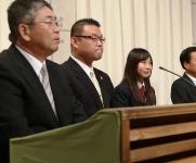 司会は山陽新聞笠岡支社の遠藤支社長さんです。