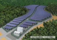 サッカーグラウンド2面分の広大な敷地に0.8メガワットの発電所。