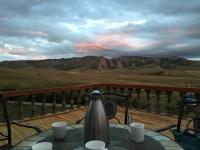 景色を楽しみながら、ジャム入り紅茶をいただく。