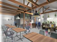 建物から内装・家具まで、トータルデザインされた本格カフェです。