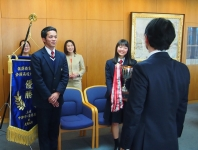 県知事への大会結果報告