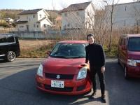 北海道から車で帰って来た岡田君