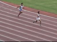 男子400m決勝 右 河田