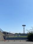 手前が陸上 遠方はレスリング会場  新潟市白山公園