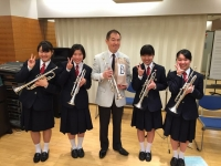 ◆NHK交響楽団佛坂先生のレッスンを終え記念写真!